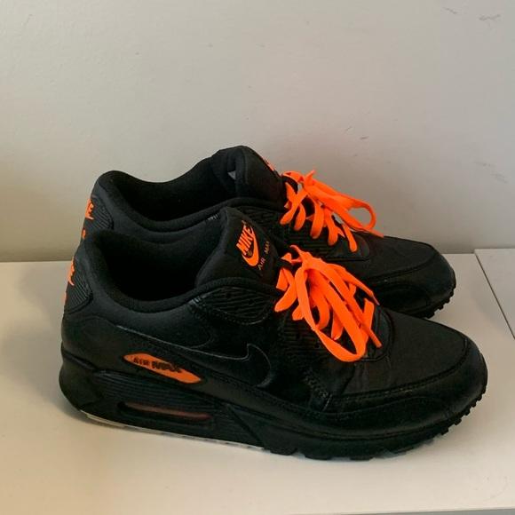 Perenne Humillar Numérico  Nike Shoes | Black And Neon Orange Nike Air Max 9 | Poshmark